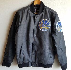 NWT NBA Golden State Wool Blend Coat Jacket